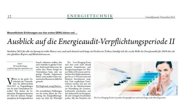 Bildausschnitt Artikel Umweltjournal Energieaudit