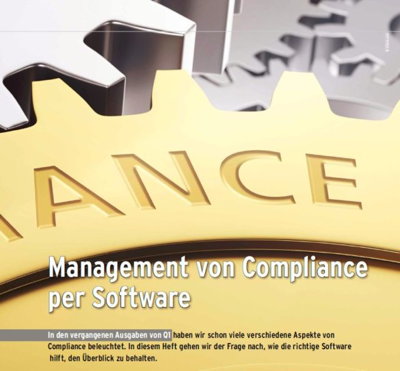 Foto Artikel Q1 Management von Compliance Software