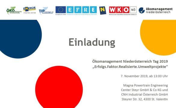 Bild Ökomanagement Tag 2019 Einladung