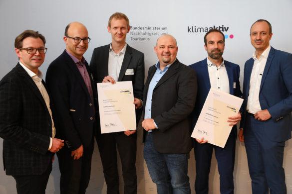 Auszeichnung klimaaktiv ConPlusUltra mit Windkraft Simonsfeld