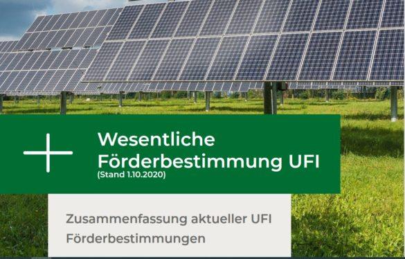 Foto erset Seite UFI Förderbestimmungen