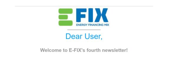 Bild vom Deckblatt vierter E-FIX newsletter