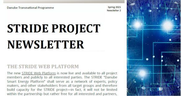 Deckblatt zweiter STRIDE newsletter