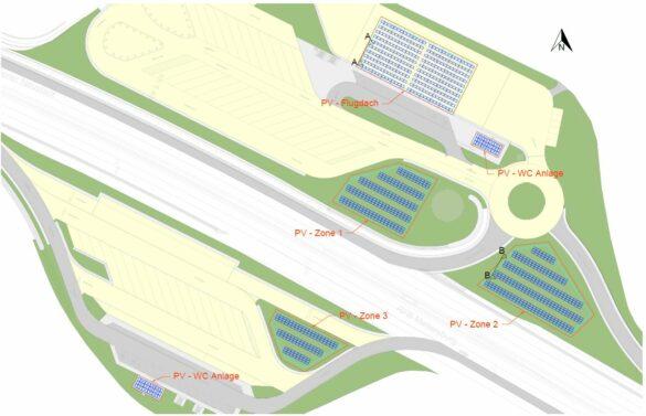 Bild zeigt Entwurfsplan für PV-Anlagen