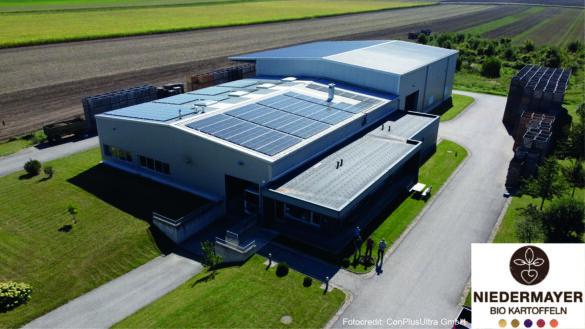 PV Anlage Biohof Niedermayer Drohnenaufnahme